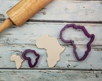 Africa Cookie Cutter and Fondant Cutter and Clay Cutter