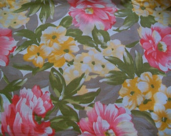 Fabric Destash -  Summer Floral Fabric by John Kaldor Fabricmaker
