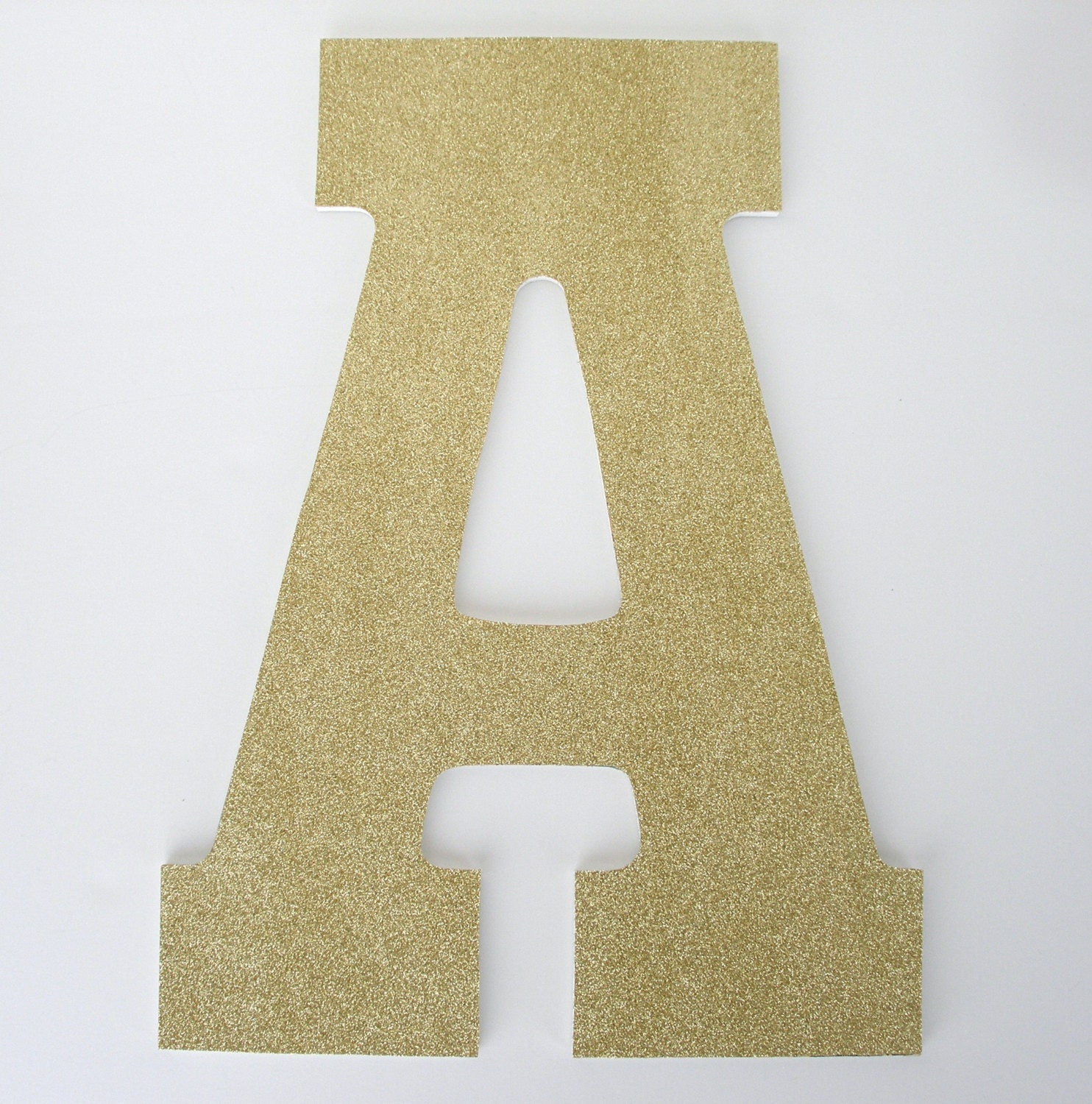 Gold glitter letters wooden nursery for baby girl large 13 for Sparkly wooden letters