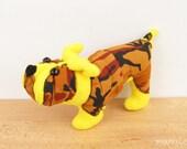 Bulldog animal soft doll Stuffed dog toy Fiber art Nursery decor Gift for dog lovers - READY TO SHIP