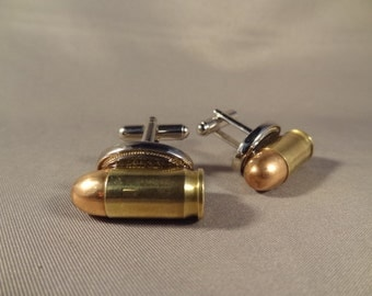 Bullet Cuff Links - REAL  .380 ACP Cartridges