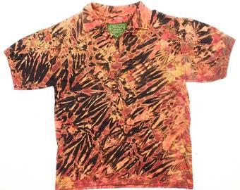 M Shibori Polo Shirt Tiger