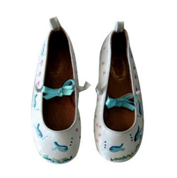 SALE! Kids flats, size 24 Childrens shoes! Leather ballet flats, for kids. Baby shower gift! Greek Shoes, for kids birthday  gift/kids shoes