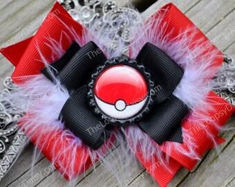 Pokemon Bow, Pokemon Birthday, Anime, PokeBall, Pokemon shirt, Pokemon cards, Disney Characters, Pikachu Costume, Girl bows, Headband, Baby