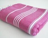 Shipping with FedEx - Classic - Beach blanket, Picnic blanket, Sofa throw, Tablecloth, Bedcover - Bathstyle - Fushia