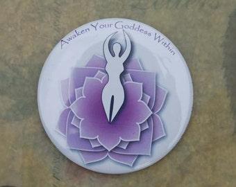 Lotus Goddess pocket mirror - Awaken Your Goddess within