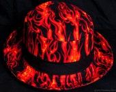 On Fire limited-edition porkpie hat