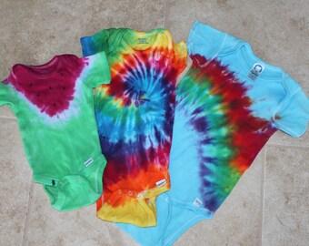 Tie dye Baby Grow with me set