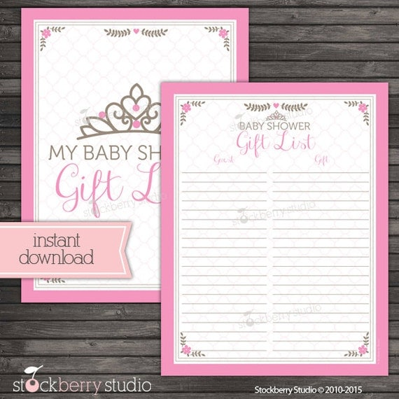 printable baby shower guest list