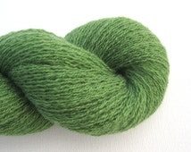 Lace Weight Recycled Cashmere Yarn, Grass Green, 450 Yards, Lot 080515