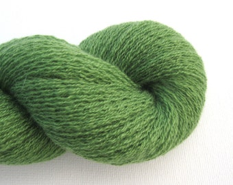 Lace Weight Recycled Cashmere Yarn, Grass Green, 420 Yards, Lot 080515
