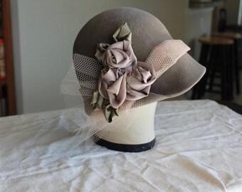 bohemian style soft fur felt hat