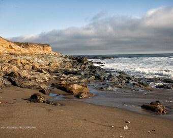 Beach Photography Landscape Photography Rocks Pacific Ocean Coast San Simeone California wall decor home decor  Fine Art Photography Print
