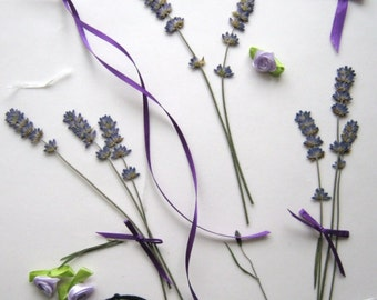 Pressed English Lavender Stems for crafting, Pressed Flowers Supplies, Floral Crafts, Lavender For Wedding Stationery