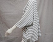 New Ivory & Grey Kimono Cardigan Boho Kimono Jacket Bohemian  Oversized Cardigan Sweater Shrug Bolero Shrug Slouchy Cardigan Knit Cocoon