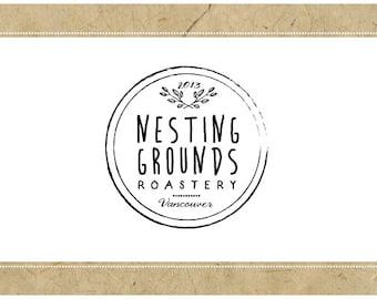 Custom Logo Design - PreDesigned Logo - PreMade Logo - Vector Logo - OOAK Logo - NESTING GROUNDS Logo Design - Round Logo - Circle Logo