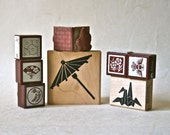 Asian Themed Rubber Stamp Destash for Scrapbooking, Card Making, Decor and More