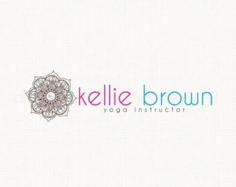 yoga instructor logo premade logo design mandala logo design graphic design bespoke logo design watermark logo design yoga studio logo