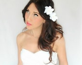 bridal headband, bridal headband ,bridal headband ,Hair Flowers, Wedding Headpiece, Bridal, beach  - LILY -  DeLoop by Theresa Joy pink