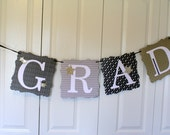 Graduation Banner for a graduation party or celebration, Large Grad banner, Gradation bunting in gold and black