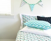 Single bed duvet cover in Ashkii design, Arrow/Geometric reversible design