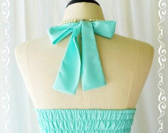 My Lady IV - Mint Blue Halter Dress Blue Party Tea Dress Vintage Design Bridesmaid Dress Blue Spring Summer Dress Halter Day Dress XS-XL