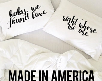 Wedding Gift Ed Sheeran Thinking Out Loud Pillow Cases Wedding Gift We Found Love right Where We Are Pillows Mr Mrs His and Hers