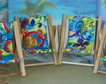 Small Blue Butterfly Print Cell Phone Chair Mamakohawaii