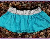 Girls Elsa Inspired Sparkle Skirt Frozen Twirl Birthday Outfit