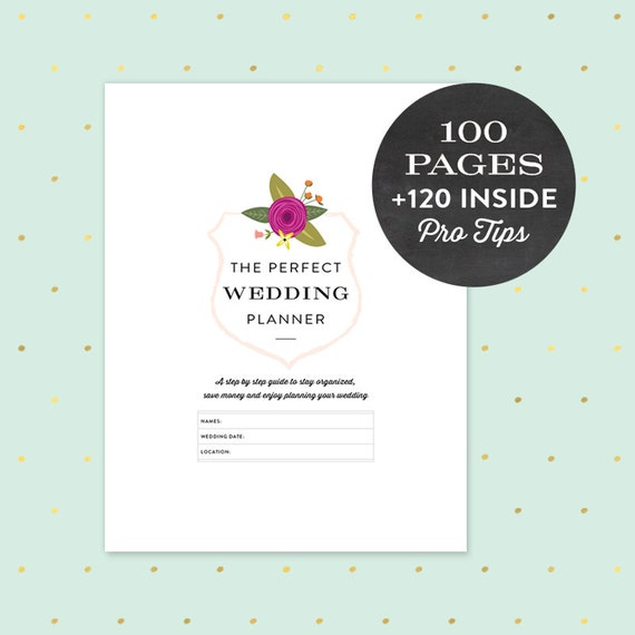 Wedding Planner Printable PDF 100 Pages Instant By Lovevsdesign