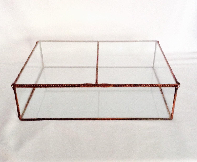 9 x 12 x 3 Tall Clear Glass Display Box