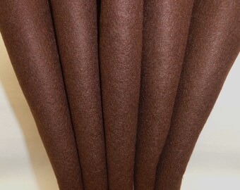 Wool Felt - Wool Sheets - Chocolate Brown Wool - Merino Blend Wool Felt - Craft Felt - 12 X 18