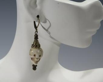 Earrings - Scary Skull Dangles