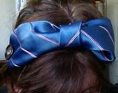 Upcycled headband silk