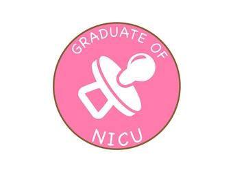 Graduate of NICU Newborn Baby Milestone Sticker