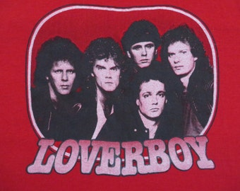 LOVERBOY 1982 tour T SHIRT Large mint