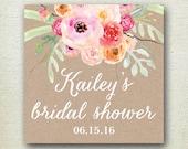 Bouquet Bridal Shower Label // Floral Favor Label // Bridal Shower Favor Label// Personalized Label //Favor Box Label // Bridal Shower Label