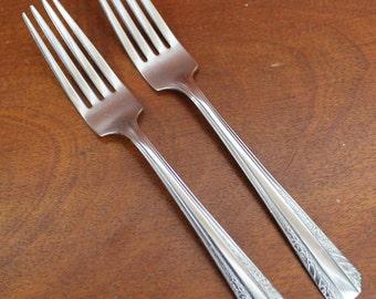 Stainless Steel Flatware Vintage Silverware Forks BIN 24
