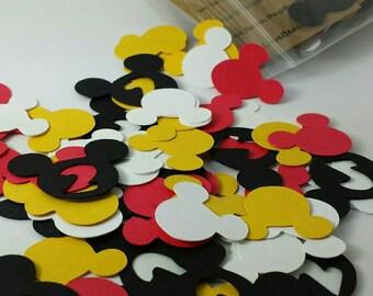 2nd Birthday Disney Mickey Mouse Confetti:  200 Disney Mickey Mouse Custom Confetti Pieces, Scrapbooking, First Birthday, Table Decor
