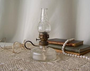 Antique Oil Lamp Miniature Finger Lamp Antique Lighting Home Decor Bedroom Lamp Circa 1900s
