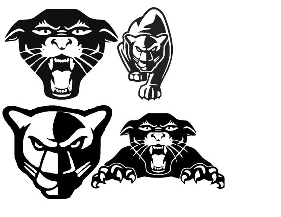 Panthers Silhouette or SVG Instant Download by MandaNoelle ...