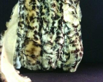2 inch wide fuzzy leopard trim