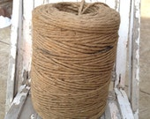 Thick Twine Rope by the Yard, 1/4 in yardage, Jute Twine Cord, Heavy Jute, Burlap Twine Ribbon, Rustic Country Wedding Decor Decorations