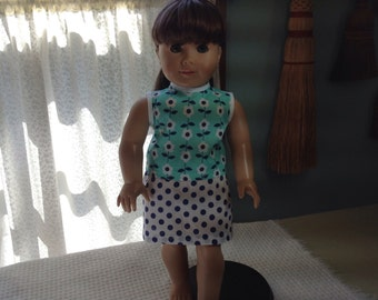 Handmade American Girl style doll clothes, skirt and top