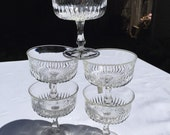 5 French Champagne Coupes