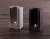 Group of 2 Tealight Totems in Concrete by Plywood Office