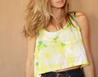 90s SUMMER vintage tie DYE abstract BOXY tank top