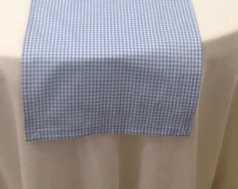 Gingham Runner, Blue and White, Dorothy Inspired, Farmhouse, Country, Cottage Chic, Party, Wedding, Home Decor
