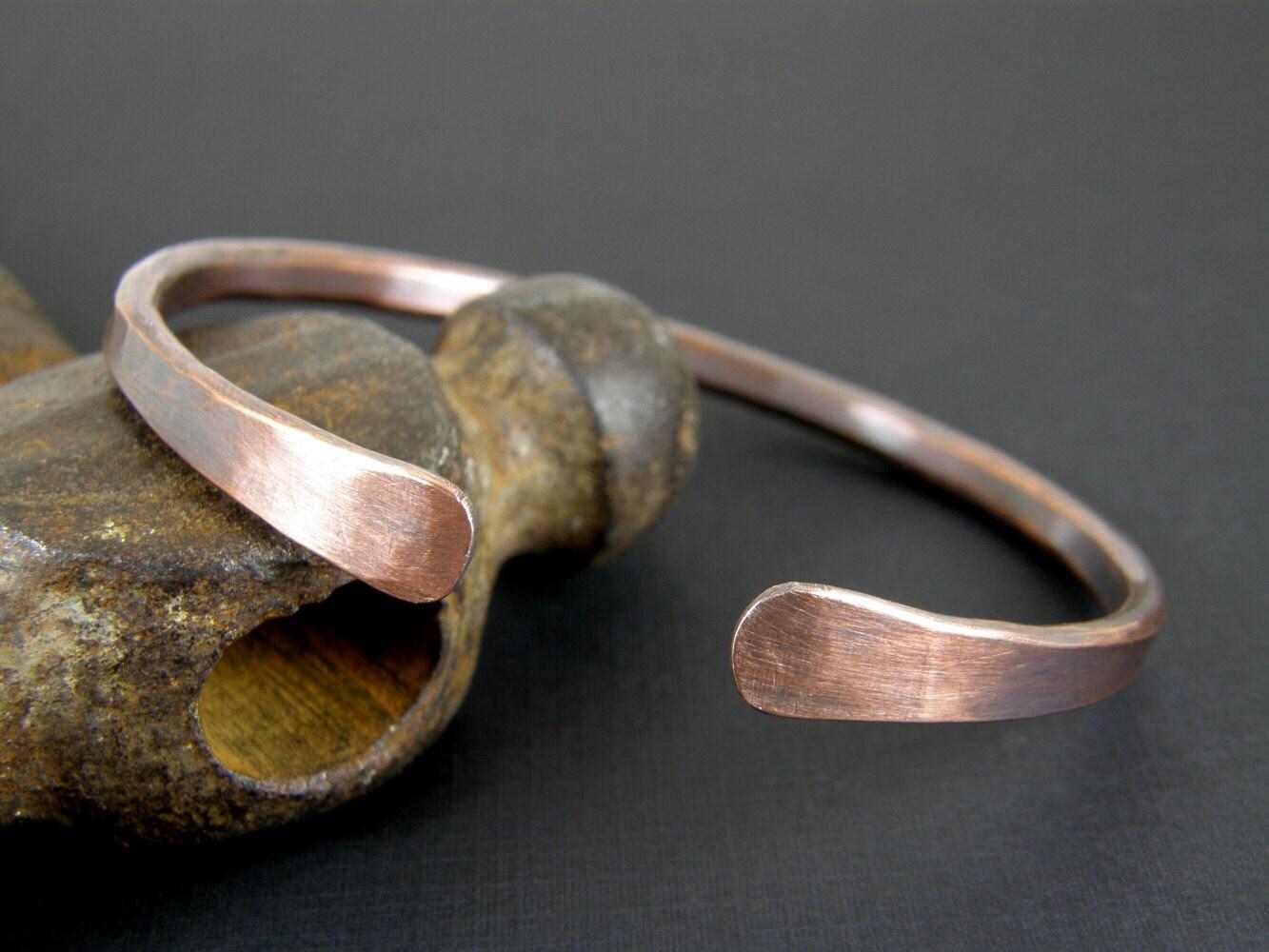 mens copper bracelet antiqued hammered copper by bonzerbeads. Black Bedroom Furniture Sets. Home Design Ideas