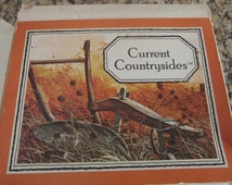 Vintage note cards and envelopes by Current - Current Countrysides - 4 designs - 12 notes and envelopes - still in box.
